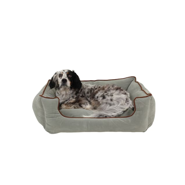 "Carolina Pet Company Spa Blue Microfiber Kuddler Lounge Dog Bed, 30"" L x 24"" W - Carousel image #1"