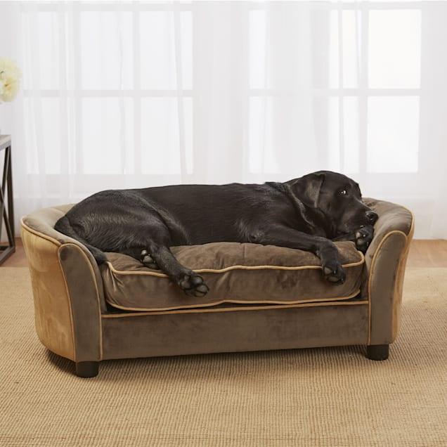 """Enchanted Home Pet Mink Brown Ultra Plush Panache Pet Sofa, 42"""" L x 23.38"""" W - Carousel image #1"""