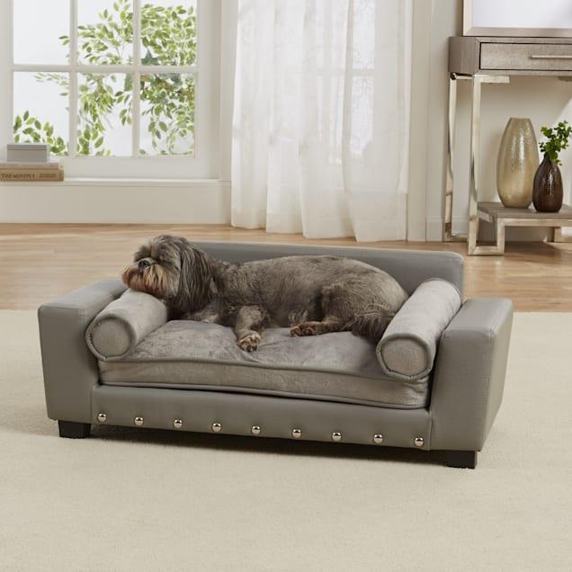 "Enchanted Home Pet Grey Scout Pet Sofa, 32"" L x 17.25"" W - Carousel image #1"