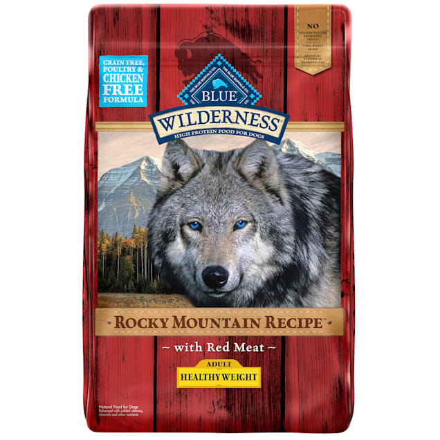 Blue Buffalo Blue Wilderness Rocky Mountain Recipe Healthy Weight Adult Red Meat Dog Food, 22 lbs. - Carousel image #1