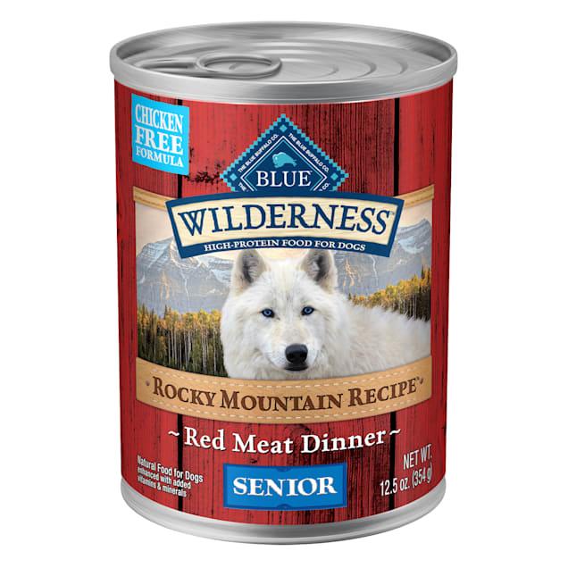 Blue Buffalo Blue Wilderness Rocky Mountain Recipe Red Meat Recipe Senior Wet Dog Food, 12.5 oz., Case of 12 - Carousel image #1