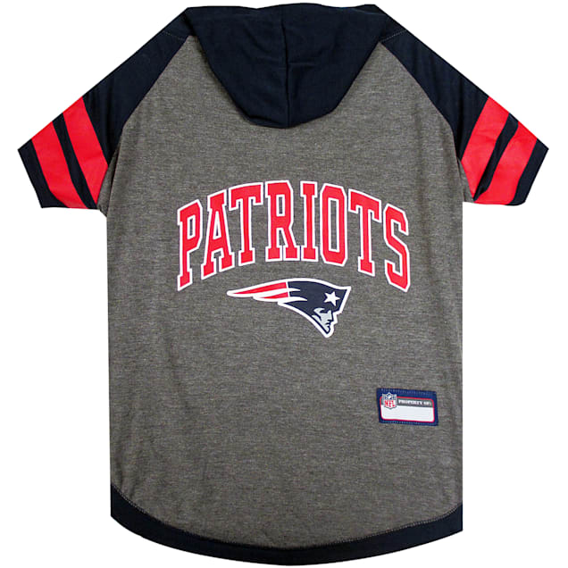 Pets First New England Patriots Hoodie Tee Shirt For Dogs, Small - Carousel image #1