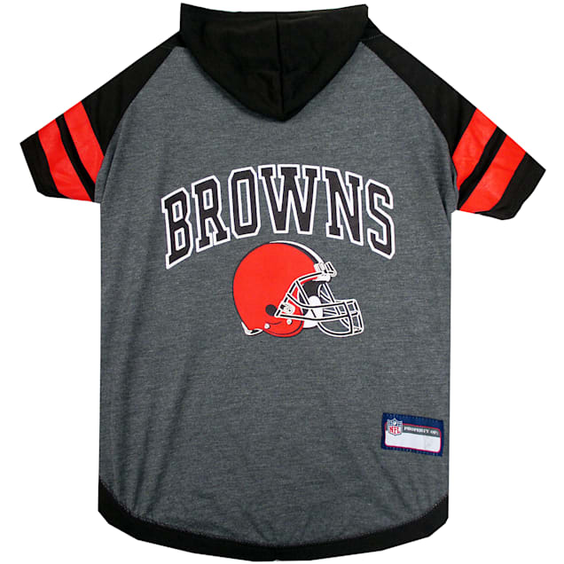 Pets First Cleveland Browns Hoodie Tee Shirt For Dogs, X-Small - Carousel image #1