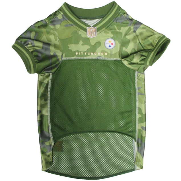 Pets First Pittsburgh Steelers Camo Jersey, X-Small - Carousel image #1