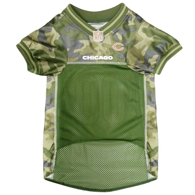Pets First Chicago Bears Camo Jersey, X-Small - Carousel image #1