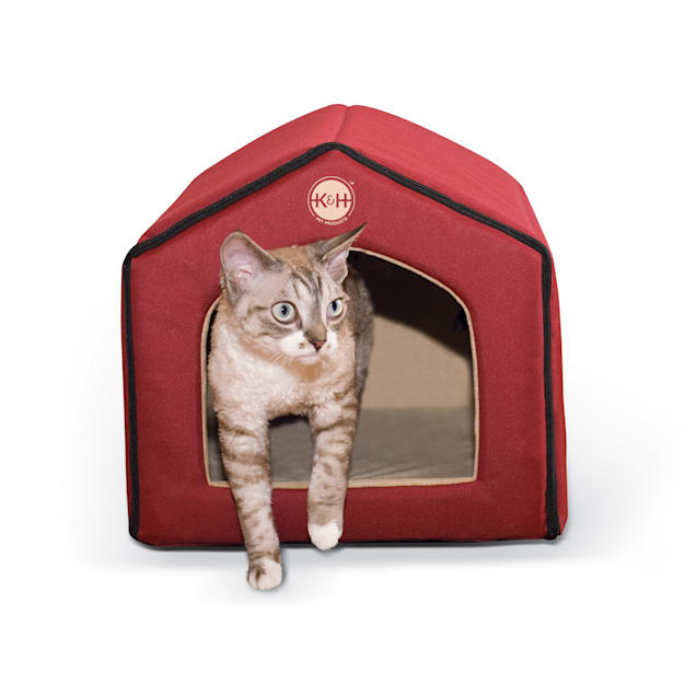 """K&H Red and Tan Indoor Pet House, 16"""" L x 15"""" W - Carousel image #1"""