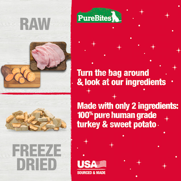 Pure Bites Holiday Turkey & Sweet Potato Dog Treats, 2.5 oz. - Carousel image #1