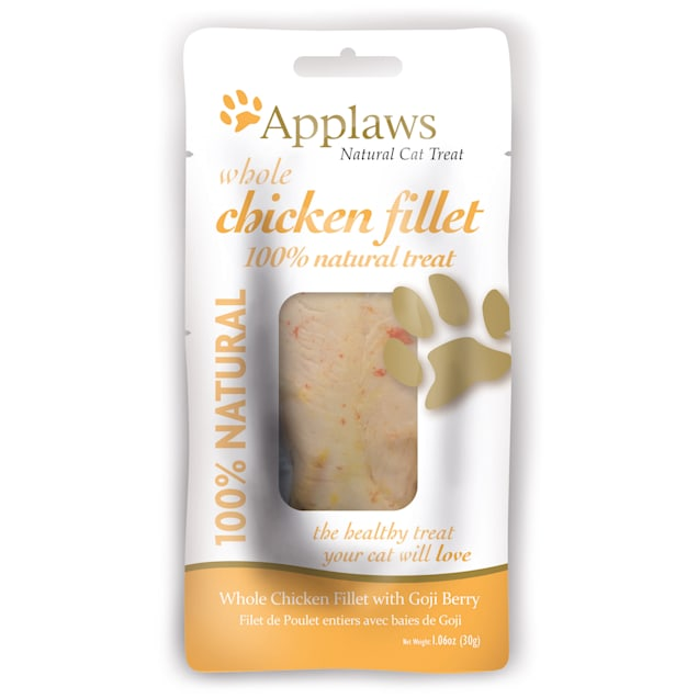 Applaws Whole Chicken with Goji Berry Loin Cat Treat, 1.06 oz - Carousel image #1