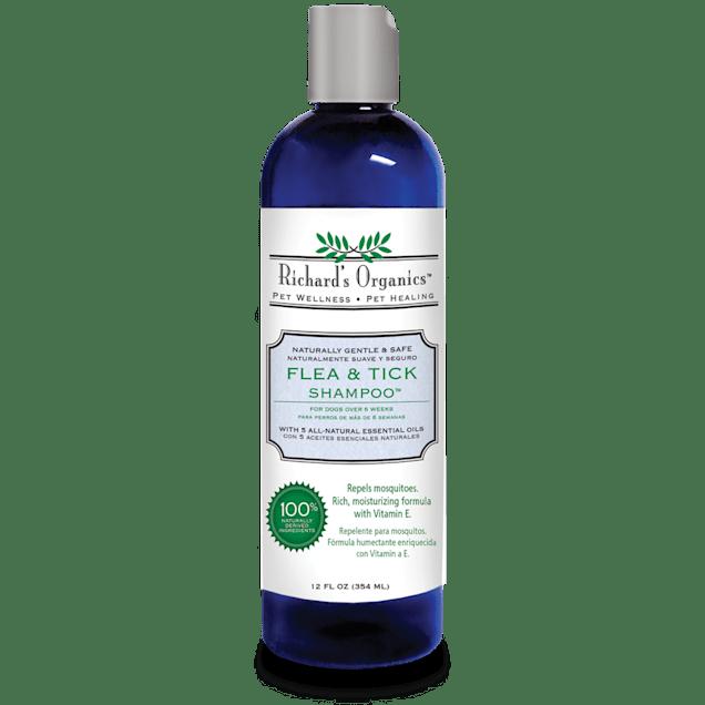 Richard's Organics Flea & Tick Shampoo, 12 oz - Carousel image #1