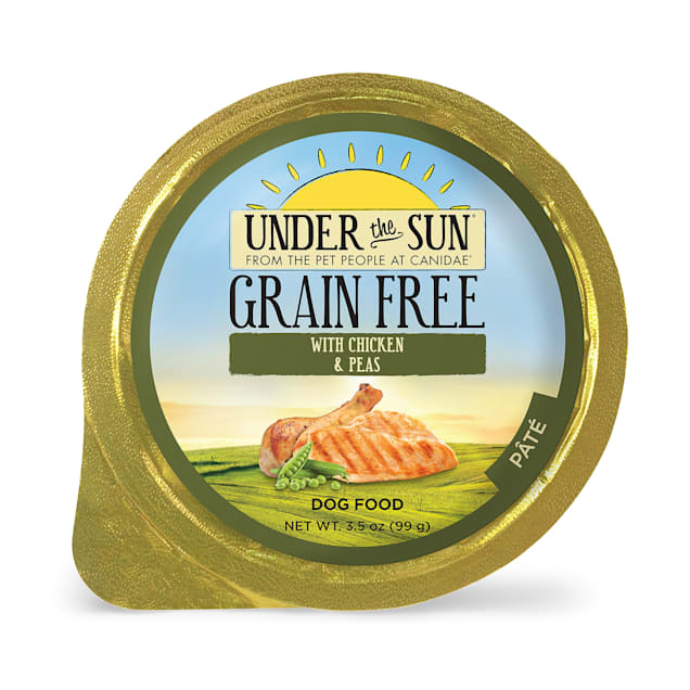 CANIDAE Under The Sun Grain Free Pate with Chicken & Peas Wet Dog Food, 3.5 oz., Case of 12 - Carousel image #1