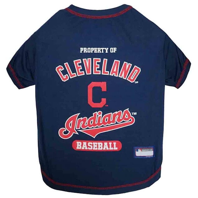 Pets First Cleveland Indians Pet T-Shirt, X-Small - Carousel image #1