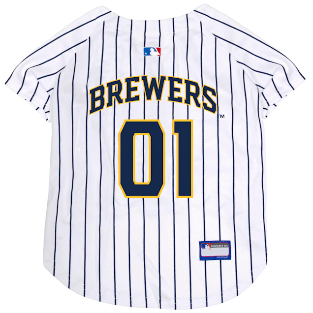 Pets First MLB Milwaukee Brewers Jersey for Dogs, X-Small - Carousel image #1