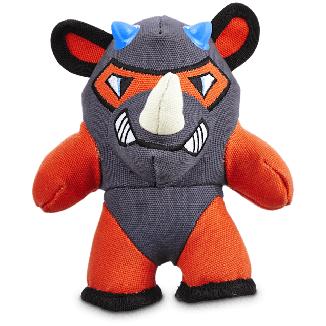 Leaps & Bounds Tough Plush Rhino Dog Toy, Small - Carousel image #1