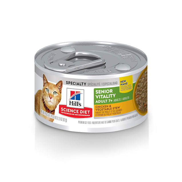 Hill's Science Diet Youthful Vitality Adult 7+ Chicken & Vegetable Stew Cat Food, 2.9 oz. - Carousel image #1