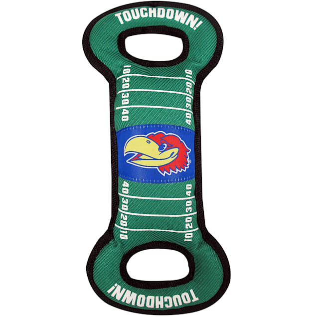 Pets First Kansas Jayhawks Field Tug Dog Toy, Medium - Carousel image #1