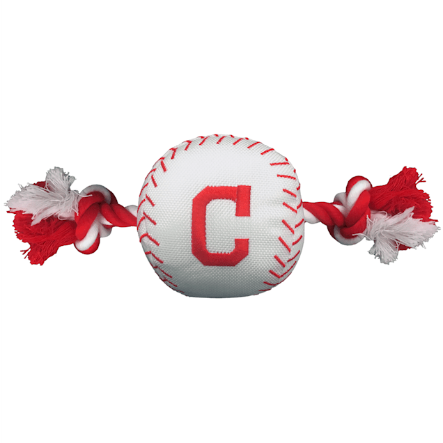 Pets First Cleveland Indians Baseball Dog Toy - Carousel image #1