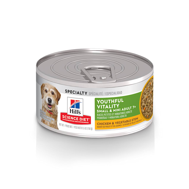 Hill's Science Diet Adult 7+ Senior Vitality Small, Mini Chicken & Vegetable Stew Canned Dog Food, 5.5 oz. - Carousel image #1