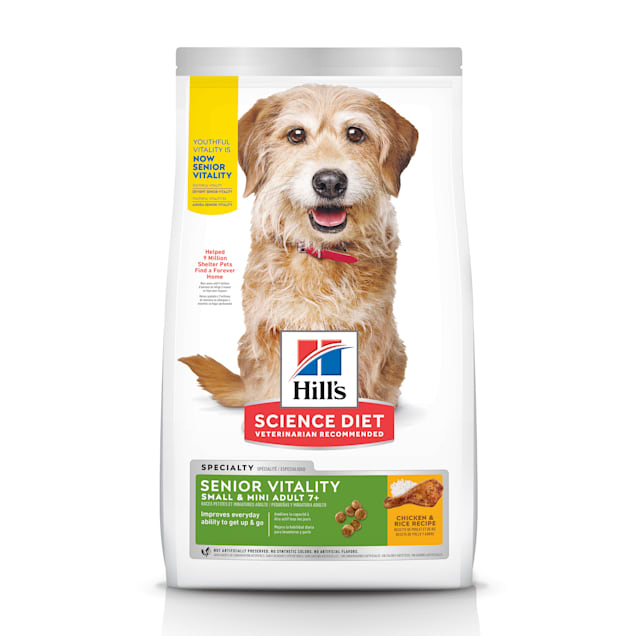 Hill's Science Diet Adult 7+ Youthful Vitality Small & Mini Chicken & Rice Recipe Dry Dog Food, 12.5 lbs. - Carousel image #1