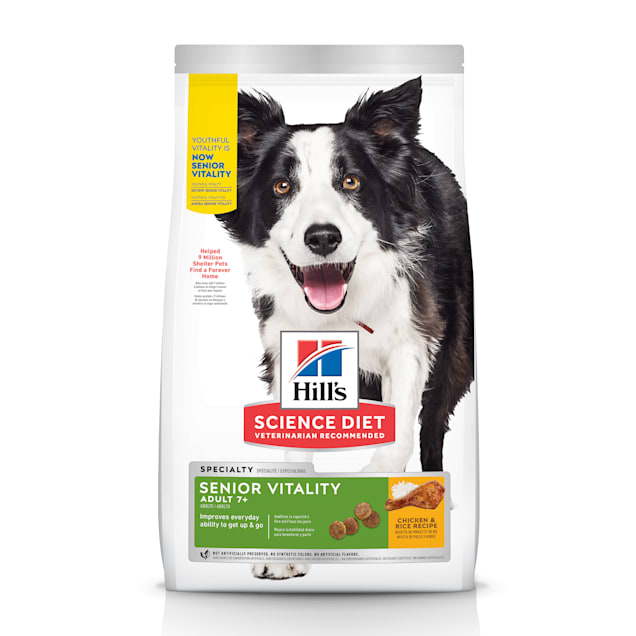 Hill's Science Diet Adult 7+ Senior Vitality Chicken & Rice Recipe Dry Dog Food, 21.5 lbs. - Carousel image #1