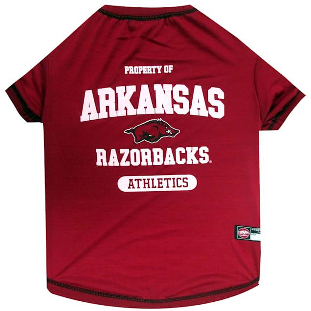 Pets First Arkansas Razorbacks NCAA T-Shirt for Dogs, X-Small - Carousel image #1