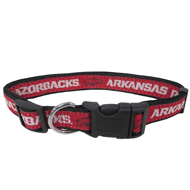 Pets First Arkansas Razorbacks NCAA Dog Collar, Small - Carousel image #1