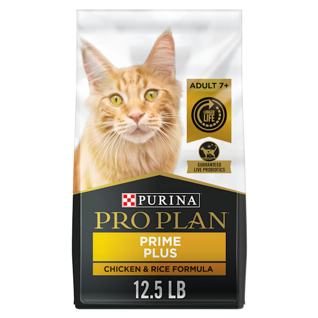Purina Pro Plan Prime Plus Chicken & Rice Formula Adult Dry Cat Food, 12.5 lbs. - Carousel image #1