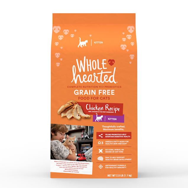 WholeHearted Grain Free Chicken Formula Dry Kitten Food, 2.5 lbs. - Carousel image #1