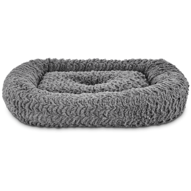 "Harmony Rectangle Cat Bed in Grey, 19"" L x 16"" W - Carousel image #1"