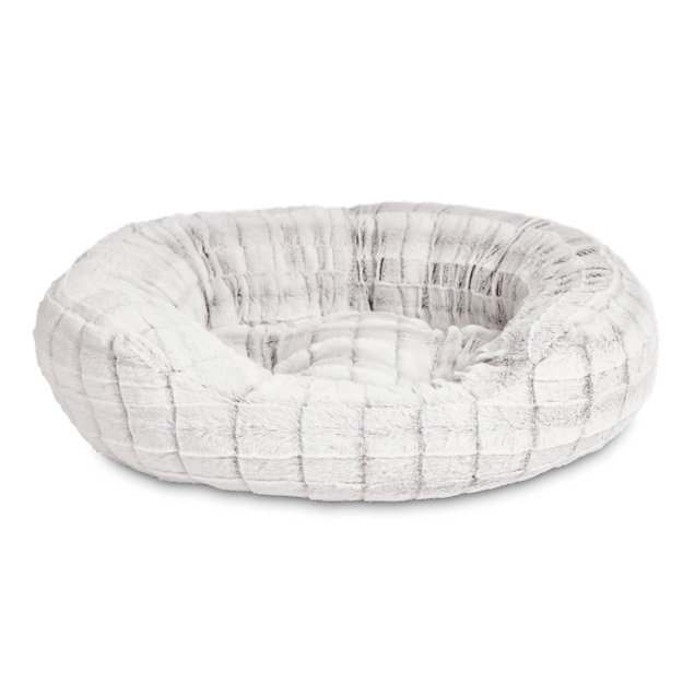 """Harmony Faux Fur Cat Bed in Grey, 20"""" L x 18"""" W - Carousel image #1"""