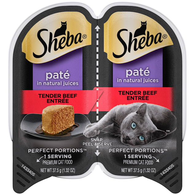 Sheba Perfect Portions Tender Beef Entree Wet Cat Food, 2.64 oz. - Carousel image #1