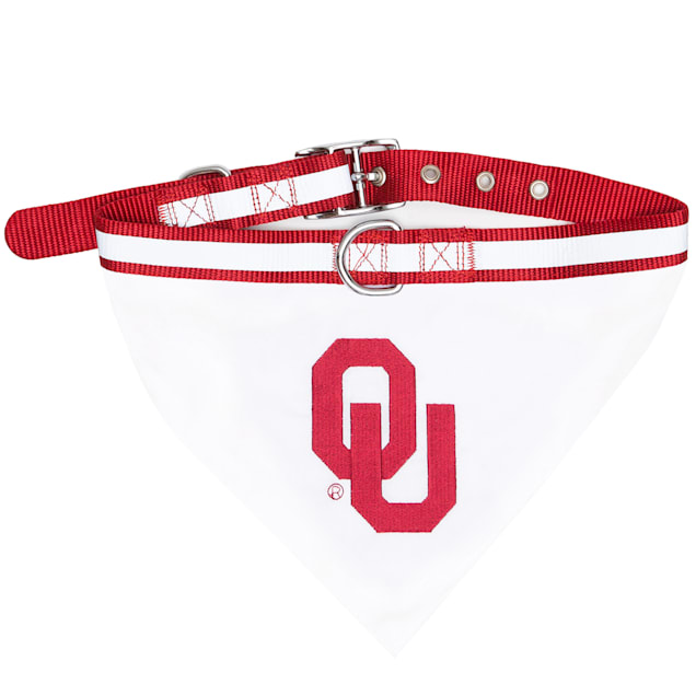 Pets First Oklahoma Sooners NCAA Dog Collar Bandana, Small - Carousel image #1