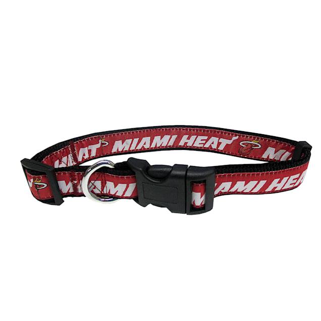 Pets First Miami Heat Dog Collar, Small - Carousel image #1