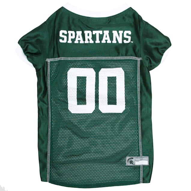 Pets First Michigan State Spartans NCAA Mesh Jersey for Dogs, X-Small - Carousel image #1