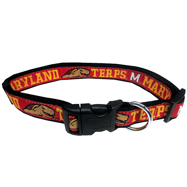 Pets First Maryland Terrapins NCAA Dog Collar, Small - Carousel image #1