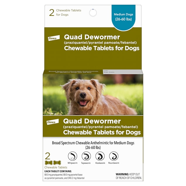Bayer Quad Dewormer Tablets for Dogs 26-60lbs - Carousel image #1