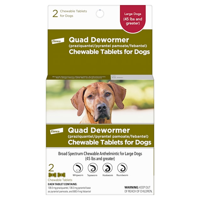 Bayer Quad Dewormer Tablets for Dogs Over 45lbs, 2 pack - Carousel image #1
