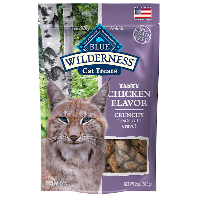 Blue Buffalo Blue Wilderness Chicken Flavor Crunchy Cat Treats, 2 oz. - Carousel image #1