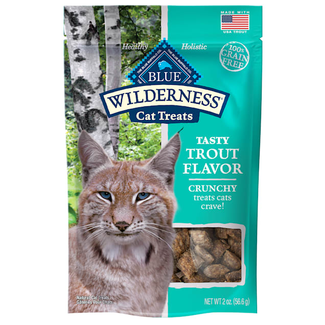 Blue Buffalo Wilderness Crunchy Trout Flavor Cat Treats, 2 oz - Carousel image #1