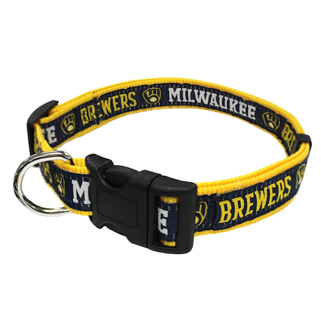 Pets First Milwaukee Brewers Collar, Small - Carousel image #1