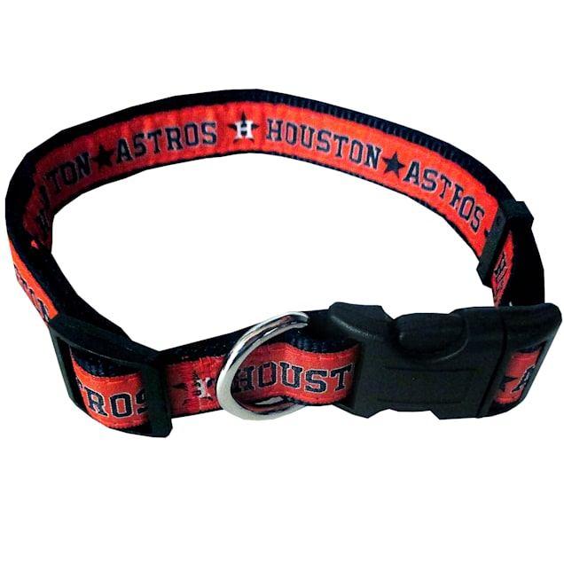 Pets First Houston Astros Collar, Small - Carousel image #1