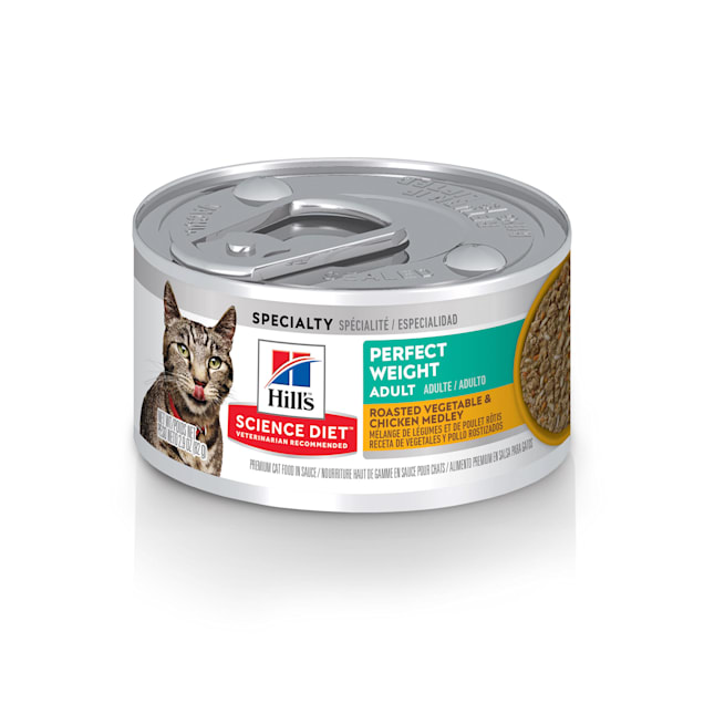 Hill's Science Diet Perfect Weight Roasted Vegetable and Chicken Medley Canned Cat Food, 2.9 oz., Case of 24 - Carousel image #1