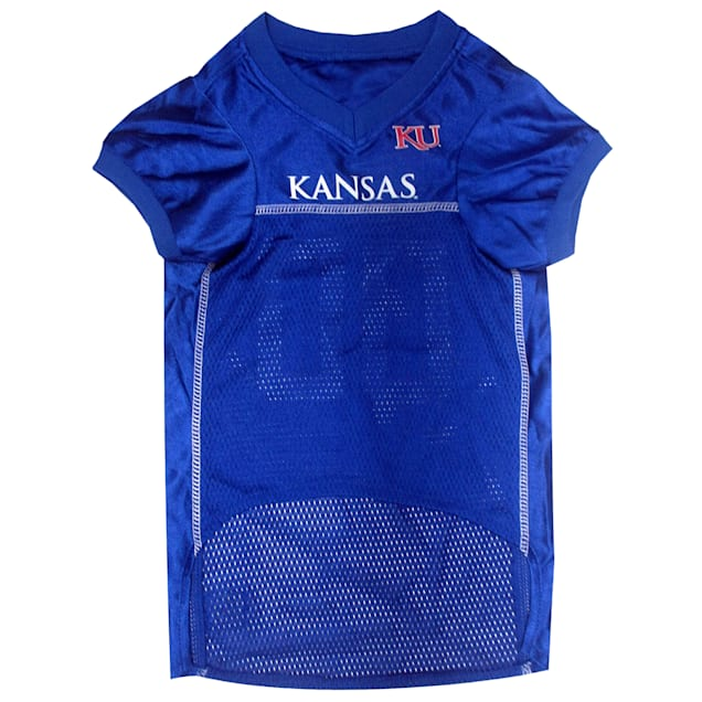 Pets First Kansas Jayhawks NCAA Mesh Jersey For Dogs, X-Small - Carousel image #1