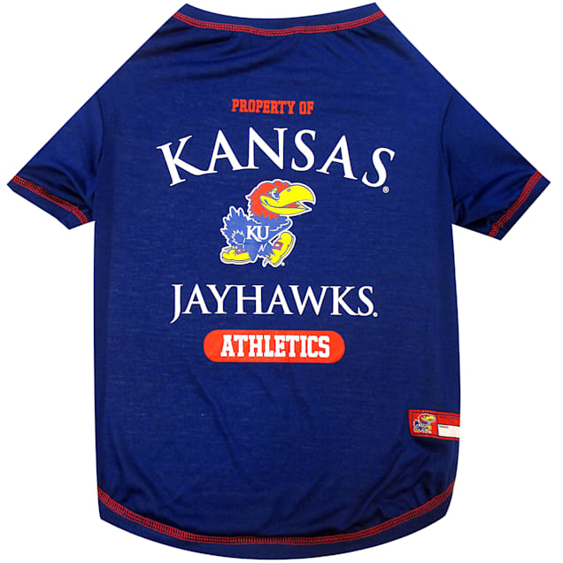 Pets First Kansas Jayhawks NCAA T-Shirt for Dogs, X-Small - Carousel image #1