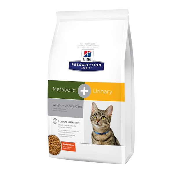 Hill's Prescription Diet Metabolic + Urinary, Weight + Urinary Care Chicken Flavor Dry Cat Food, 12 lbs., Bag - Carousel image #1