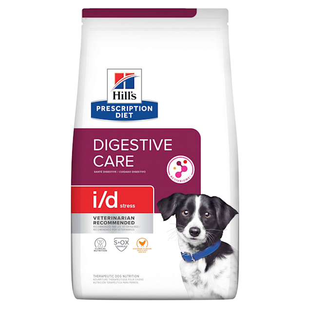 Hill's Prescription Diet i/d Stress Digestive Care Chicken Flavor Dry Dog Food, 14.33 lbs., Bag - Carousel image #1