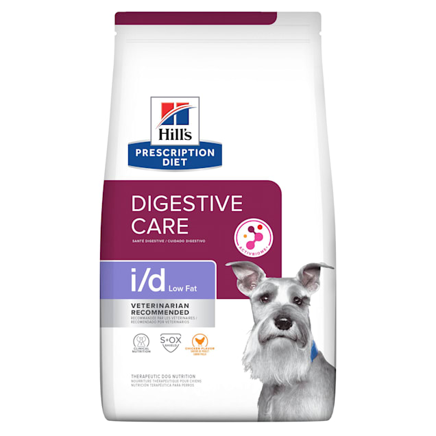 Hill's Prescription Diet i/d Low Fat Digestive Care Chicken Flavor Dry Dog Food, 27.5 lbs., Bag - Carousel image #1