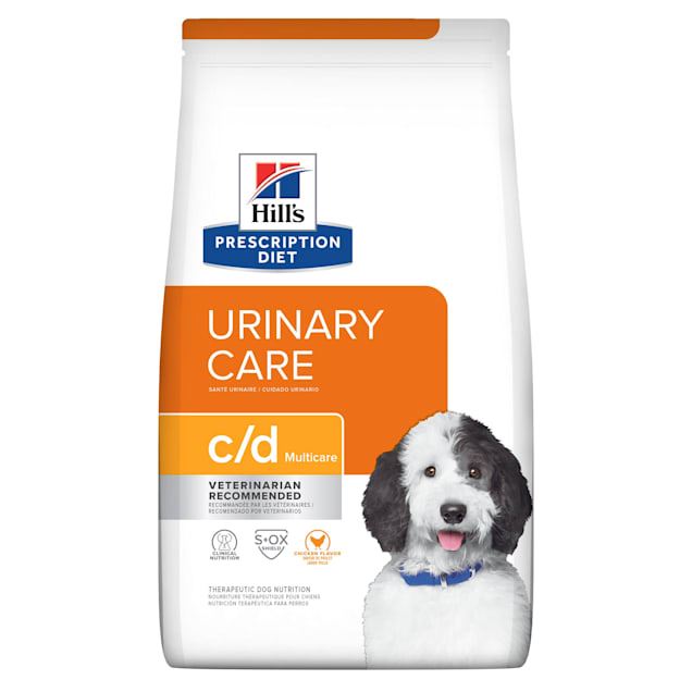Hill's Prescription Diet c/d Multicare Urinary Care Chicken Flavor Dry Dog Food, 27.5 lbs., Bag - Carousel image #1
