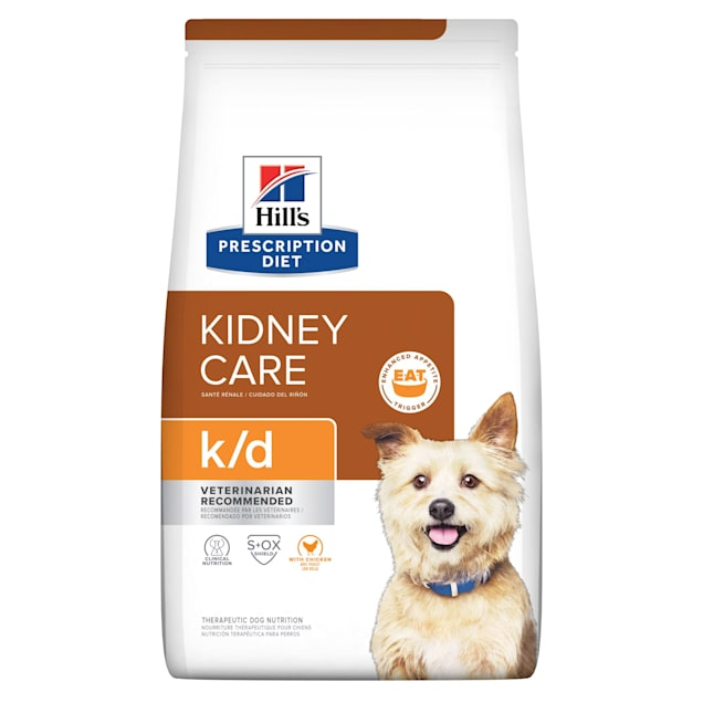 Hill's Prescription Diet k/d Kidney Care with Chicken Dry Dog Food, 27.5 lbs., Bag - Carousel image #1