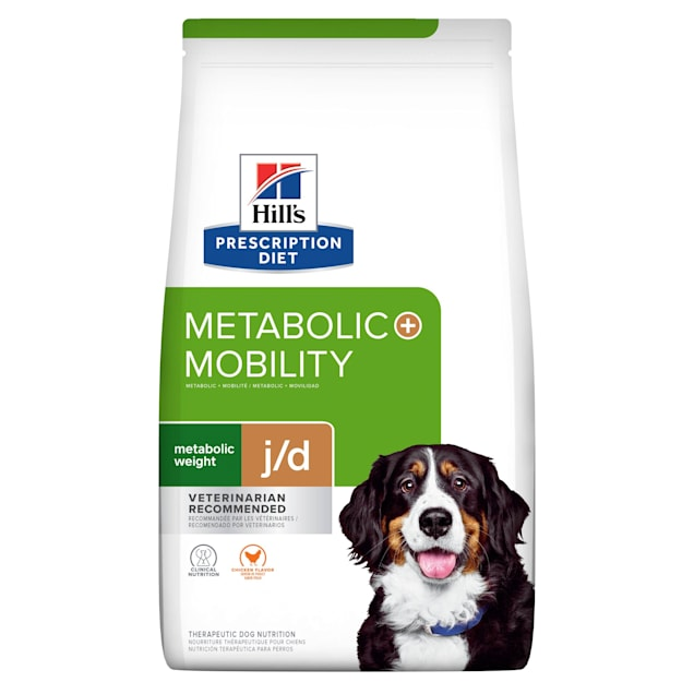 Hill's Prescription Diet Metabolic + Mobility, Weight + Joint Care Chicken Flavor Dry Dog Food, 24 lbs., Bag - Carousel image #1