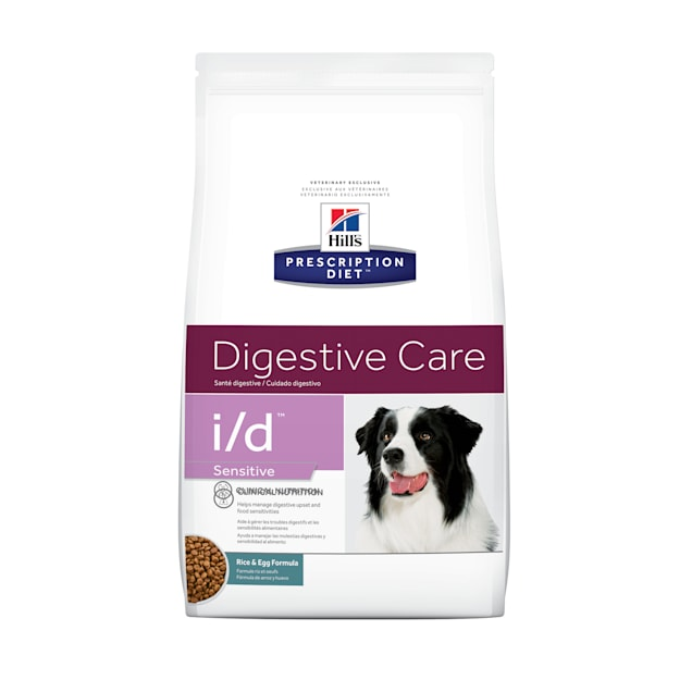 Hill's Prescription Diet i/d Sensitive Digestive Care Rice & Egg Formula Dry Dog Food, 17.6 lbs., Bag - Carousel image #1